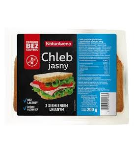 NVA chleb jasny z siemieniem lnianym b/g 200g