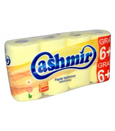 Cashmir Papier Toaletowy 6+2 żółty