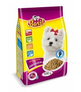 Basil Karma sucha dla psa 500g z drobiem,małe rasy