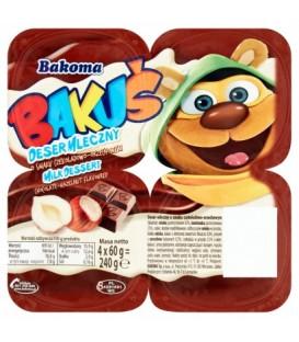 Bakoma bakuś deser Czekoladowo-orzechowy 4*60g