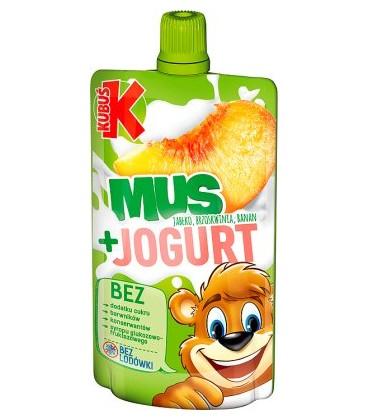 Kubuś Mus Brzoskwinia-Jogurt80g