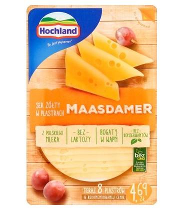 Hochland Ser Żółty Maasdamer Plastry 135g