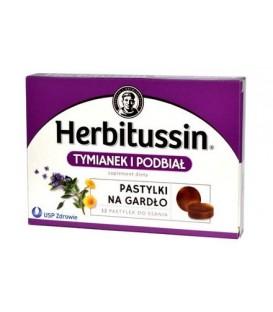 Herbitussin Tymianek i Podbiał 12tab.do ssania