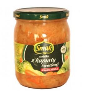Smak sałatka z kapusty kwaszonej z marchewką 500g