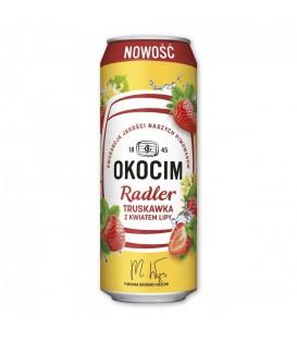 Okocim Radler Truskawka z Kwiatem Lipy pusz. 0,5l