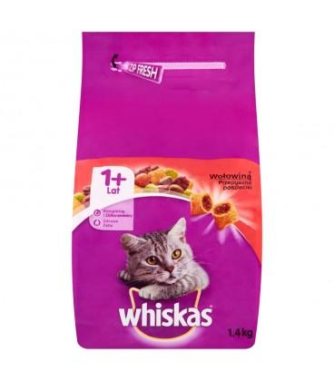 Whiskas sucha karma wołowina 1,4kg