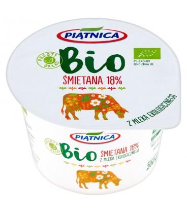 Piątnica Śmietana Bio 18% 200g.