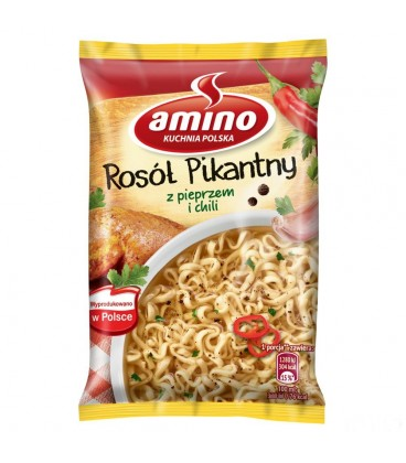 Amino Nudle Rosół Pikantny 58g