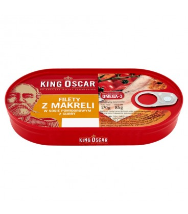 King Oscar filet śledź w sosie pom. z curry 170g