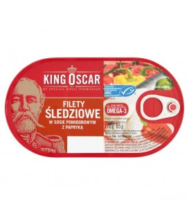 King Oscar filet śledź w sosie pom z papryką 170g
