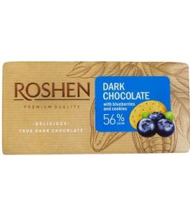 Roshen Czekolada gorzka 56% jagody herbatniki 90g