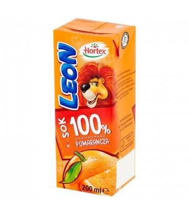 Leon pomarańczowy 100% słomka 200ml