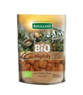 Bakalland Bio Migdały łuskane 100g.