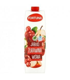 Fortuna Napój Jabłko-Żurawina-Wiśnia 1l.