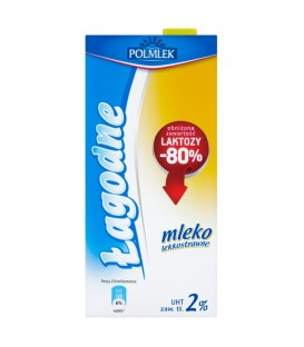 Polmlek Mleko łagodne UHT bez laktozy 2% 1l