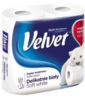 Velvet Papier A4 Delikatnie Biały