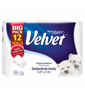 Velvet papier a4 delikatnie biały XXL 12 rolek