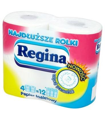 Regina duże rolki papieru toaletowego biały 4 szt.