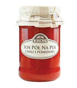 SN Krokus Sos pół na pół chili i pomidory 340g