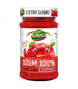 Łowicz Dżem Extra Gładki Truskawka 235g.