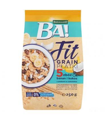 Bakalland BA płatki 5 zbóż z bananem i kokosem250g