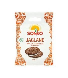 Sonko Wafle Jaglane W Czekoladzie Mlecznej 30g.