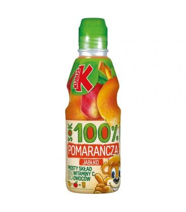 Kubuś 100% Sok pomarańcza jabłko 300 ml