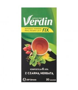 Verdin Fix Suplement diety kompozycja 6 ziół z czarną herbatą 36 g (20 x 1,8 g)