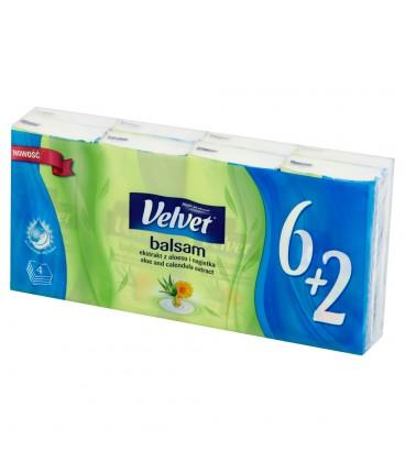 Velvet Balsam Chusteczki higieniczne 6 x 9 sztuk