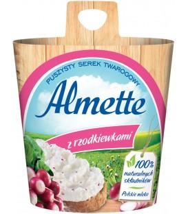 Almette z rzodkiewkami Puszysty serek twarogowy 150 g