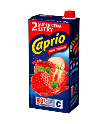 Caprio Napój jabłko truskawka 2 l