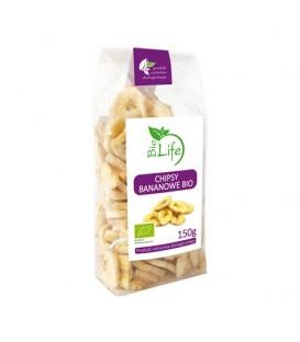 Biolife chipsy bananowe bio 150g