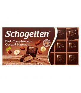 Schogetten dark chocolate cocoa&hazelnuts 100g