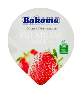 Bakoma Jogurt Premium Mild Truskawka 140g