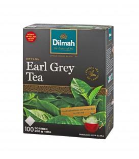 Dilmah Earl Grey Klasyczna czarna herbata z aromatem z bergamoty 200 g (100 torebek)
