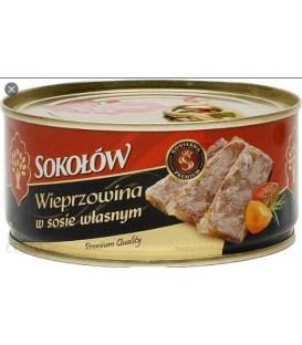 Konserwa Wieprzowina w sosie własnym 290g Sokołów