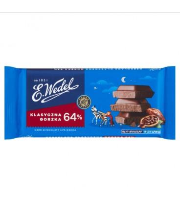 Czekolada Gorzka Klasyczna 64% Kakao 90g.Wedel