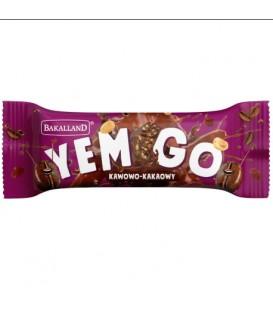 Baton YemGo Kakaowo-Kawowy w czekoladzie 40g.Bakal