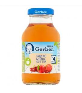 Gerber 100% Sok z Jabłek i Wiśni 200ml