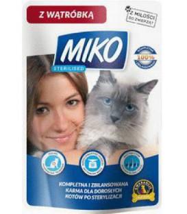 Karma dla kota Sterilised sasze. 100g wątrób.Miko