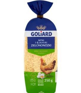 Makaron Goliard 250gNitka 4-jaj.z jaj kury zielon