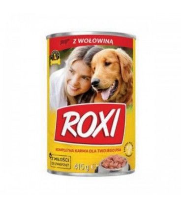 Karma dla psa puszka 415g z wołowiną Roxi