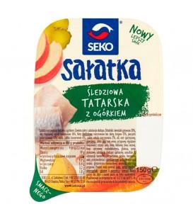 Sałatka tatarska ze śledziem i ogórkiem 150g Seko