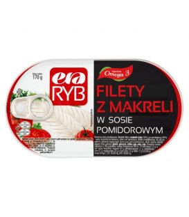 Filety z makreli w sosie pomidorowym 170g Graal