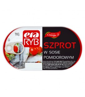 Szprot w sosie pomidorowym 170g Era Ryb Graal