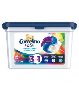 Kapsułki do prania Care Kaps 18w kolor Coccolino