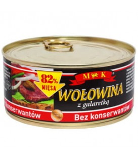 Wołowina w sosie własnym bez konserwantów 300g MK