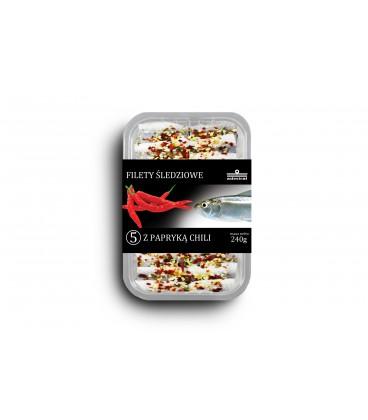 Filety śledziowe marynowane z chili